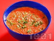 Рецепта Доматена супа със сирене и ориз